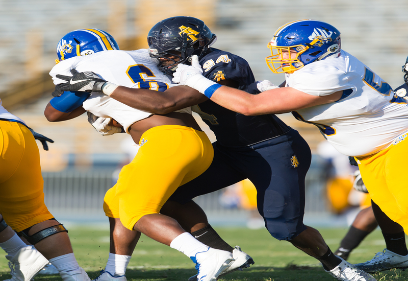 2017 A&T Football vs Mars Hill  www.ncataggies.com - Photo by: Kevin L. Dorsey